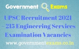 UPSC ESE Recruitment 2021