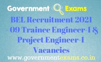 BEL Trainee Project Engineer Recruitment 2021