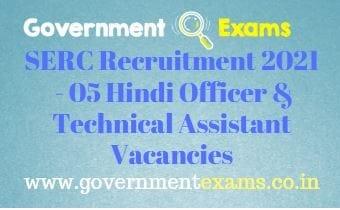 CSIR SERC Hindi Officer Techn