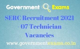 CSIR SERC Technician Recruitment 2021