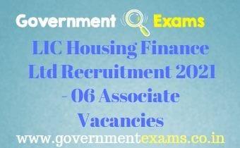 LIC Housing Finance Ltd Associate Recruitment 2021