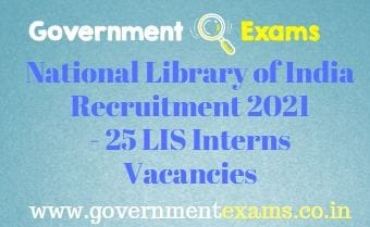 National Library of India LIS Interns Recruitment 2021