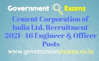 CCI Officer Engineer Recruitment 2021