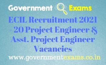 ECIL Project Engineer Recruitment 2021