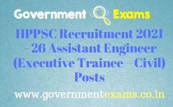 HPPSC Assistant Engineer Recruitment 2021