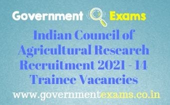 ICAR Young Professional Recruitment 2021