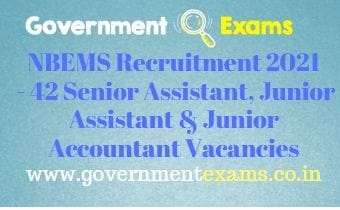 NBEMS Assistant Accountant Recruitment 2021