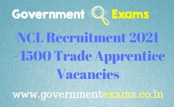 Northern Coalfields Limited Apprentice Recruitment 2021