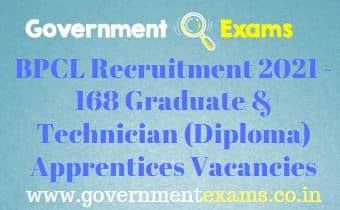 BPCL Graduate Diploma Apprentices Recruitment 2021