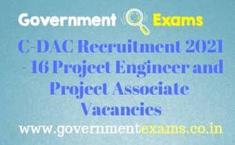 CDAC Chennai Project Associate Engineer Recruitment 2021