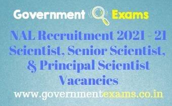 CSIR NAL Project Staff Recruitment 2021