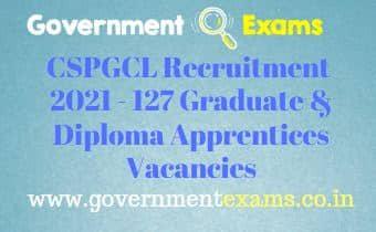 CSPGCL Graduate Diploma Apprentices Recruitment 2021