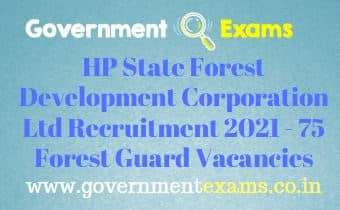 HPSFDC Ltd Forest Guard Recruitment 2021