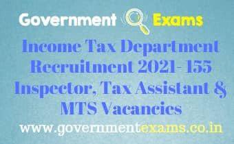 Income Tax Department Mumbai Sports Quota Recruitment 2021
