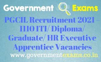 PGCIL Apprentice Recruitment 2021