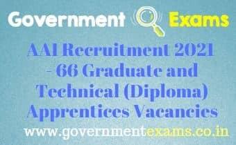 AAI Technical Graduate Apprentices Recruitment 2021