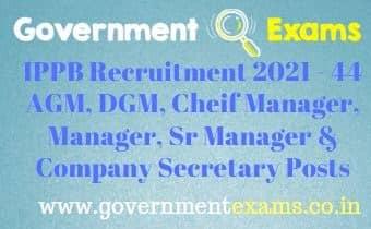 IPPB Various Manager Recruitment 2021