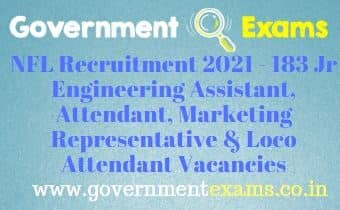 NFL Non Executive Workers Recruitment 2021