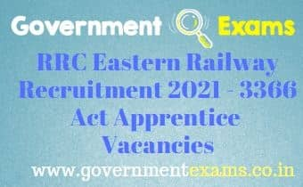 RRC Eastern Railway Act Apprentice Recruitment 2021