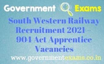 South Western Railway Recruitment 2021 – 904 Act Apprentice Vacancies
